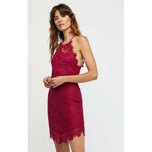 Free People Shes Got It Lace Bodycon Slip Dress